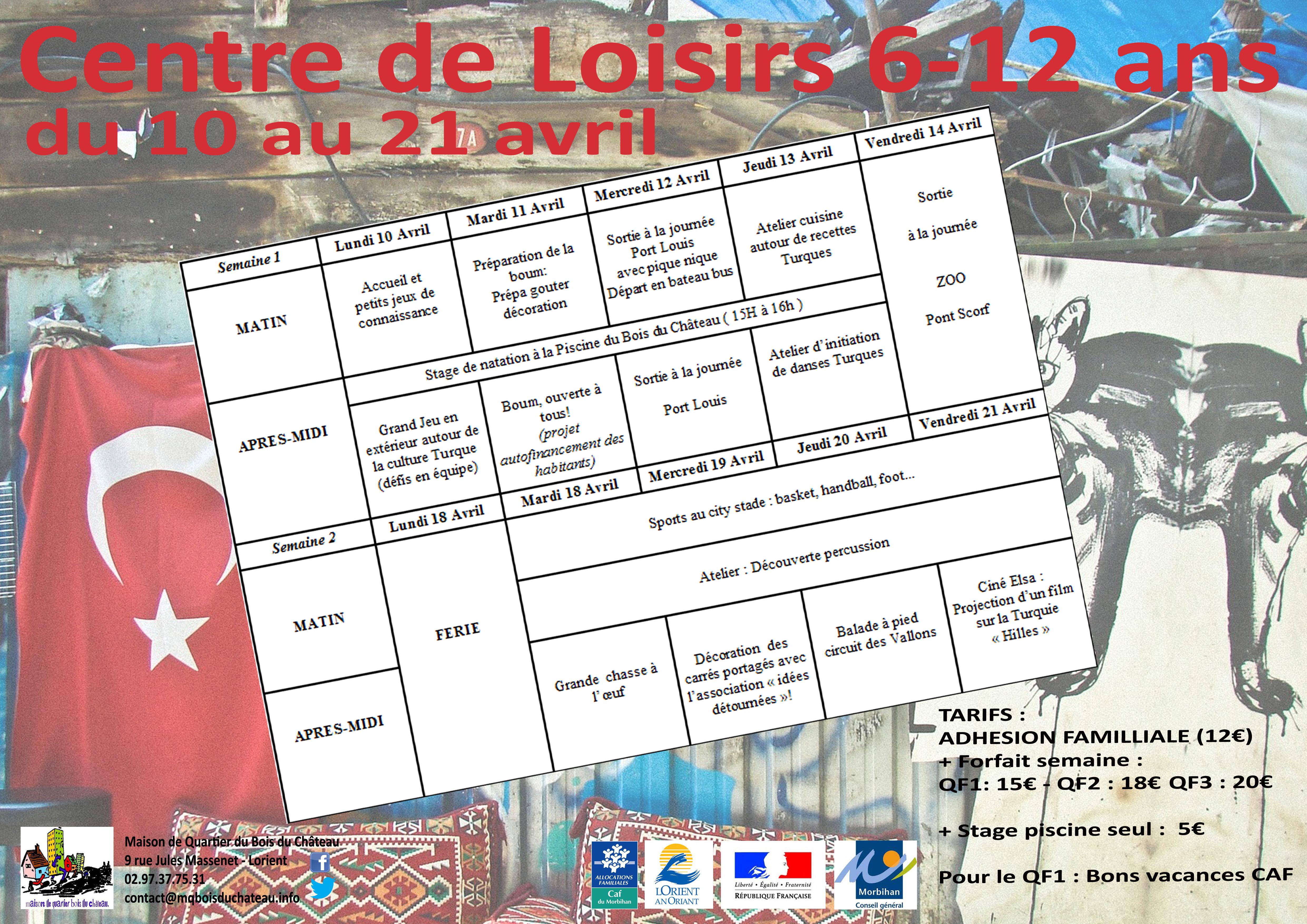 Lorient Page 6 Maison De Quartier Du Bois Du Chateau